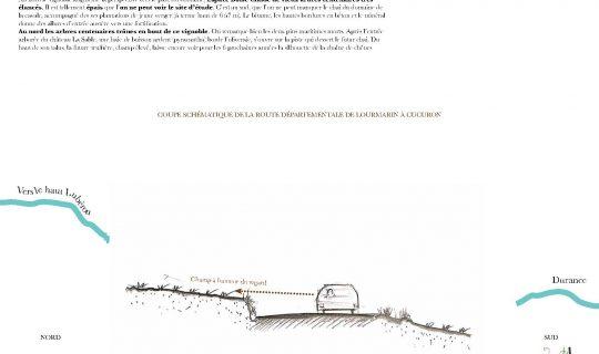 Coupe de principe de la RD en Luberon