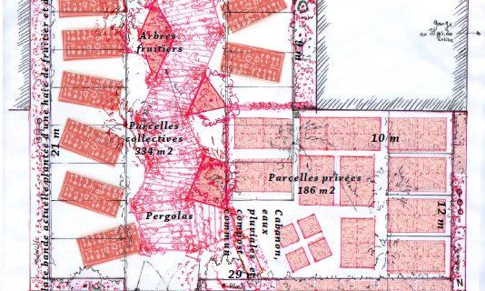 Plan jardin parking
